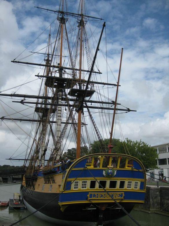L'Hermione : un projet de reconstruction à l'identique d'une frégate ayant effectué la traversée de l'Atlantique en 1780